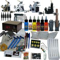 4 Machine Apprentice Tattoo Kit with Digital Power Supply & 6 Radiant 0.5oz Inks