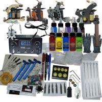 4 Machine Apprentice Tattoo Kit with Dual Digital Power Supply & 10 Radiant 1/2oz Inks