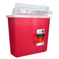 Bemis Sharps Container, Red, 5 Quart