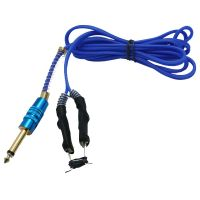 6 Foot SUPER SOFT SILICONE CLIP CORD Autoclaveable Gold Plated Phono Plug - Blue