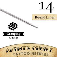 Artist's Choice Tattoo Needles - 9 Round Liner 50 Pack