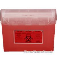 Bemis Sharps Container, Red, 3 Quart