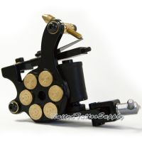 E-class Professional Black Bullet Revolver Tattoo Machine w/10 Wrap Coil