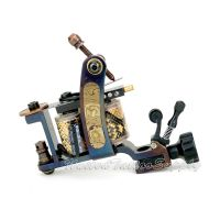 Hand Made Totem DAMASCUS TATTOO Machine with Needle Tensioner - Shader