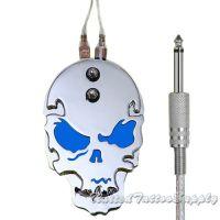 Stainless Steel Skull Metal Tattoo Foot Pedal - Blue Eyes
