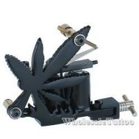 C-CLASS Basic 10-Wrap Iron Tattoo Machines Weed Leaf Framed