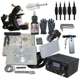 1 Machine Apprentice Tattoo Kit with Dual Digital Power Supply &  Radiant Ink