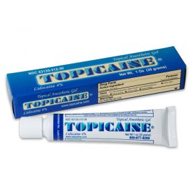 TOPICAINE Topical Anesthetic Gel 10g (1/3 Oz) with 4%  Lidocaine