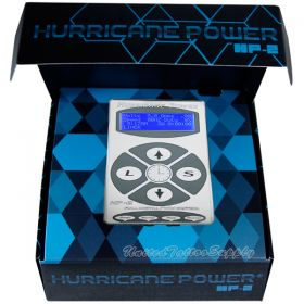 Hurricane HP-2 Silver Dual Digital LCD Tattoo Power Supply - 2013 New Version
