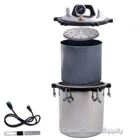 Tattoo Autoclave Steam Sterilizer 4.7 Gallon (18 Liter) Steam Autoclave Sterilizer Tattoo Dental Commercial Unit New