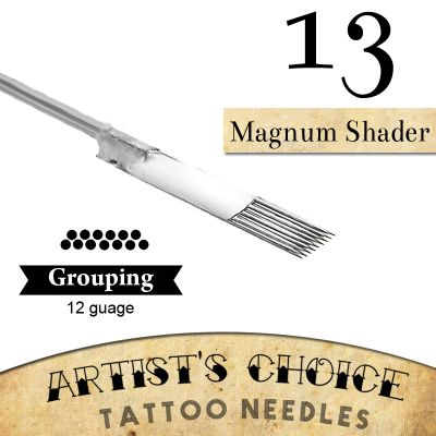 Artist's Choice Tattoo Needles - 11 Magnum Shader 50 Pack