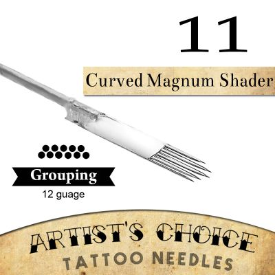 Artist's Choice Tattoo Needles - 9 Curved Magnum 50 Pack