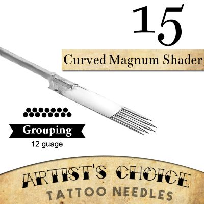 Artist's Choice Tattoo Needles - 15 Curved Magnum 50 Pack
