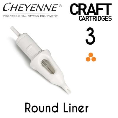 Cheyenne Craft Cartridge needles - 3 Round Liner - 10 Pack