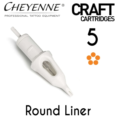 Cheyenne Craft Cartridge needles - 5 Round Liner - 10 Pack