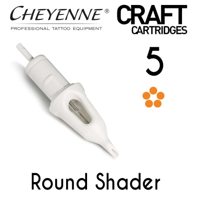 Cheyenne Craft Cartridge needles - 5 Round Shader - 10 Pack