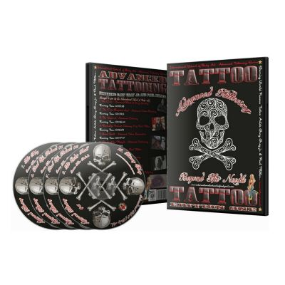 Advanced Tattooing - Beyond the Needles DVD, 12 Hours Tattoo Course on 4 DVDs