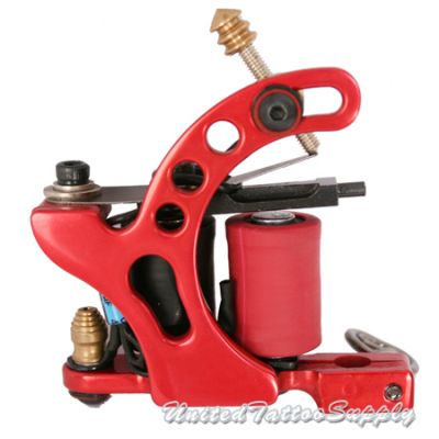 Air Craft Aluminum in Red plated Liner Tattoo Machine
