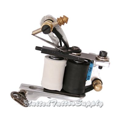 Air Craft Aluminum in Silver Polished Tattoo Machine