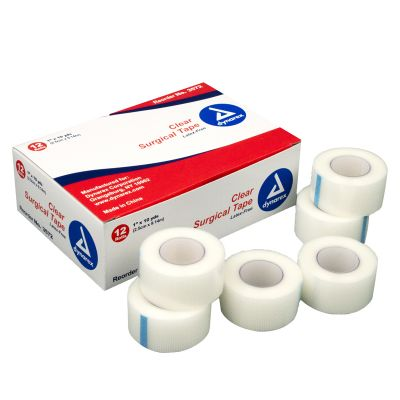 "Dynarex 1"" Transparent Tape (12 rolls)"