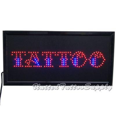 "LED Tattoo Sign - 12"" x 24"" LED Business Shop Sign"
