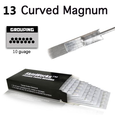 Tattoo Needles - #10 Bugpin 13 Curved Magnum 50 Pack