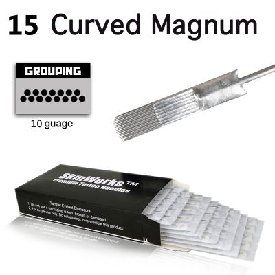 Tattoo Needles - #10 Bugpin 15 Curved Magnum 50 Pack