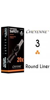 Cheyenne 3 Round Liner Cartridge