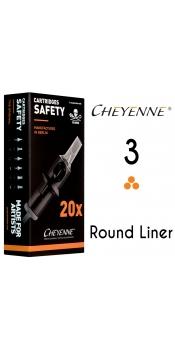 Cheyenne Cartridge -3 Round Liner, 0.25- 10 Pack