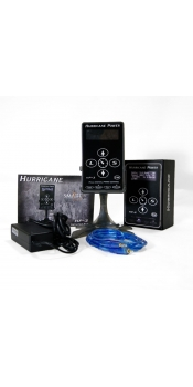 Hurricane HP-3 Black Dual Digital LCD Tattoo Power Supply