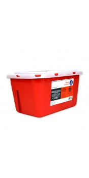 Bemis Sharps Container, Red, 1 Gallon