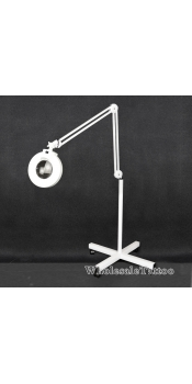 Adjustable 5X Magnifying Tattoo Lamp with Rolling Floor Stand