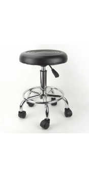 Black Adjustable Rolling Stool Tattoo Salon Chair