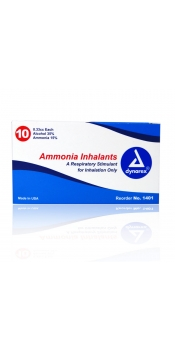 Dynarex Ammonia Inhalants, 0.33cc, Pack of 10