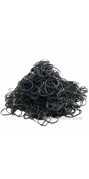 Premium Black Tattoo Rubber Band #12 - 1/4lb (about 900 pcs)