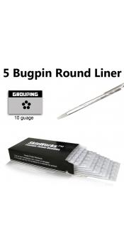Tattoo Needles - #10 Bugpin 5 Round Liner