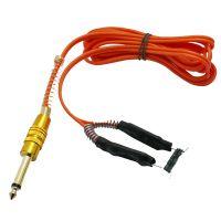 6 Foot SUPER SOFT SILICONE CLIP CORD Autoclaveable Gold Plated Phono Plug - Orange
