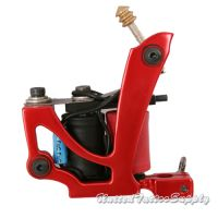 Air Craft Aluminum in Red Polished Tattoo Machine
