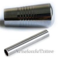 1 Inch - Stainless Steel Grip with back stem