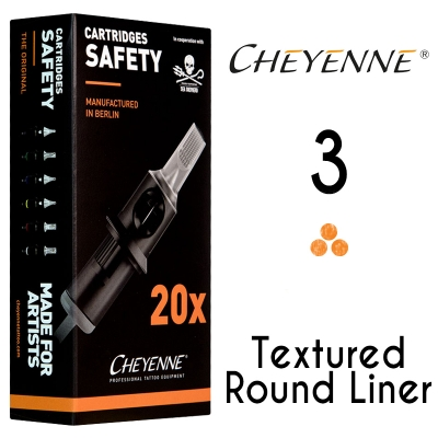Cheyenne Cartridge -3 Bugpin Round Liner- 10 Pack